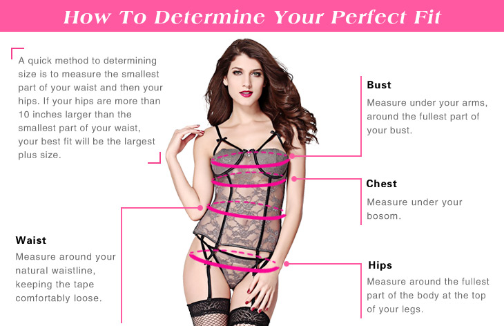 How to measure sexy lingerie size, sexy lingerie size chart